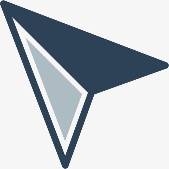 蓝色飞机样式鼠标指针_png素材免费下载_ 1001*1001