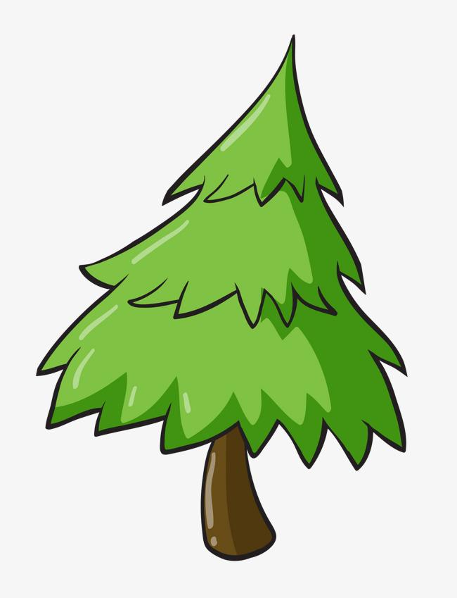 碧绿的松树图片