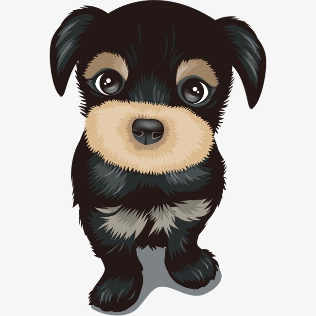 可爱的黑色小狗简图