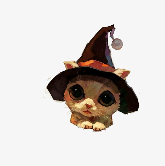 卡通可爱动物海报设计装饰猫咪