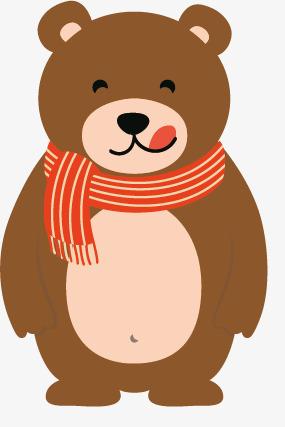 围围巾的棕色小熊素材图片免费下载 高清png 千库网 图片编号9408191