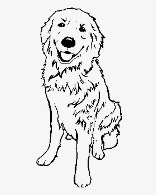 简笔画狗狗