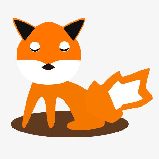 手绘卡通小狐狸图