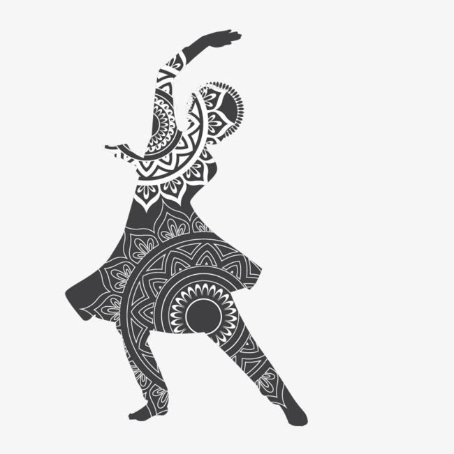 舞蹈动作手绘简图