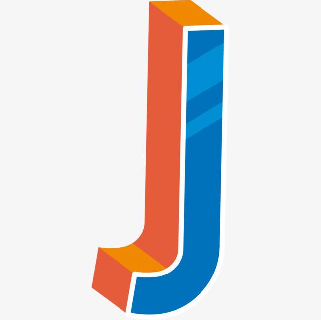 本次蓝色现代感立体英文字母j作品为设计师杰瑞罗罗诺亚创作,格式为图片