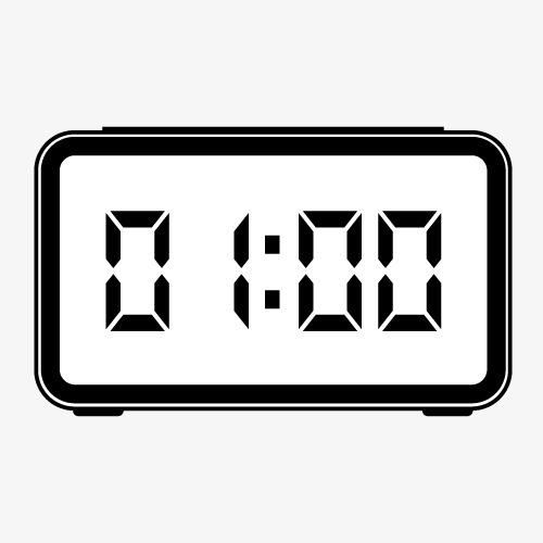 简易电子表倒计时一分钟图片