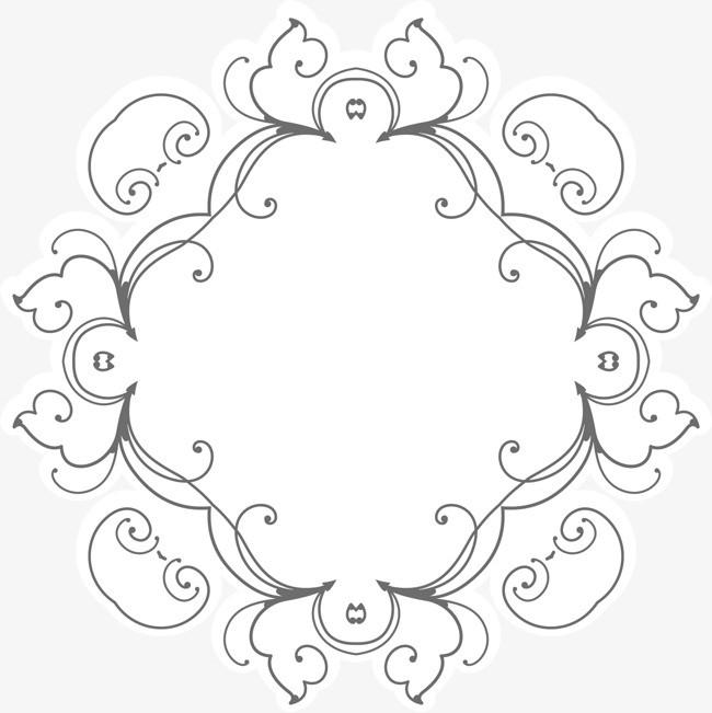 矢量手绘边框花纹装饰
