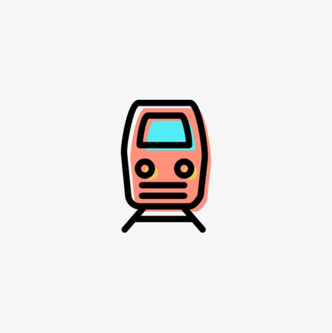 卡通简约装饰卡通火车头装饰