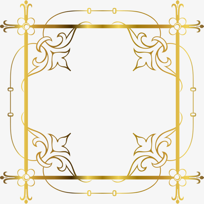 奢华金色线条边框图片