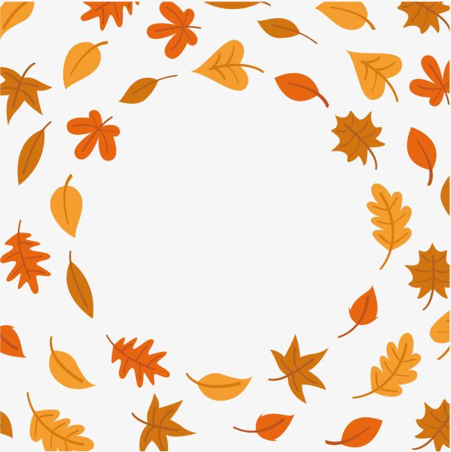 手绘秋季枫叶矢量图