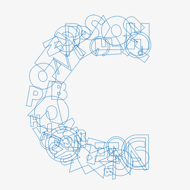 本次线条简笔创意英文字母c作品为设计师天欠日月创作,格式为png,编号