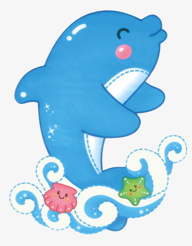 卡通可爱小海豚设计
