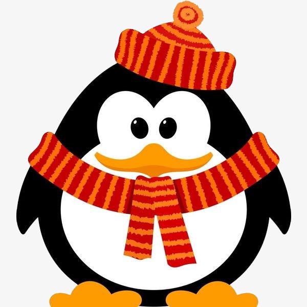 手绘卡通装饰可爱小动物可爱企鹅海报设计png素材下载