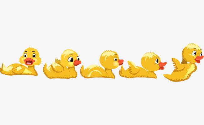 卡通可爱黄色鸭子