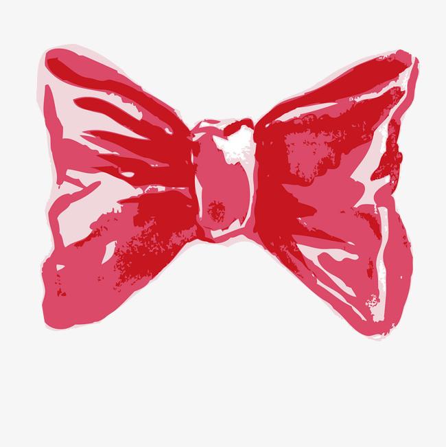 手绘粉红色的蝴蝶结