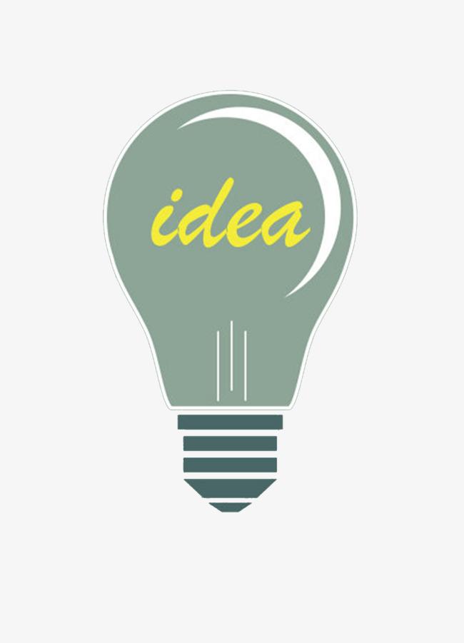 灰色电器灯泡idea装饰图案素材图片免费下载_