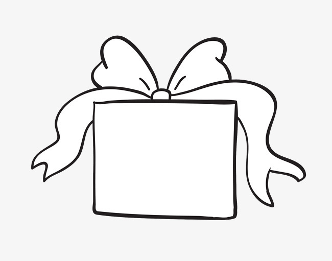 简约手绘线条礼盒