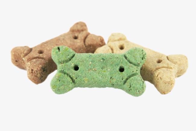 棕色可爱动物的食物骨头狗粮饼干实物