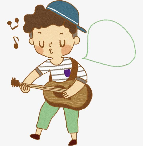 弹吉他的男生免抠图