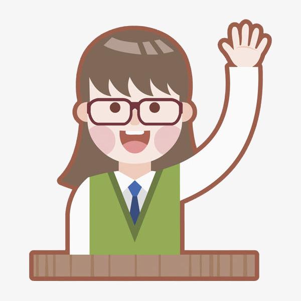 举手回答问题的女生png素材下载_高清图片png格式(:)图片