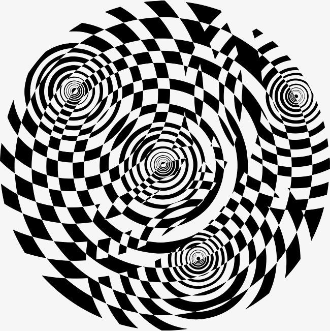 黑白矢量螺旋纹理设计图图片