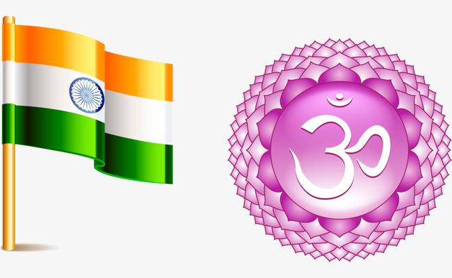 矢量手绘印度国旗