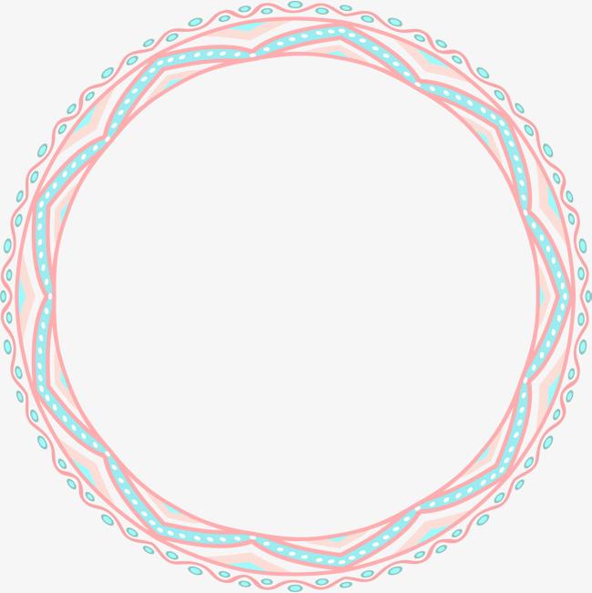 文艺风多彩花纹圆圈
