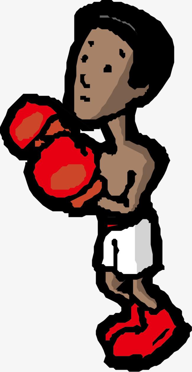 打拳击的运动员图片