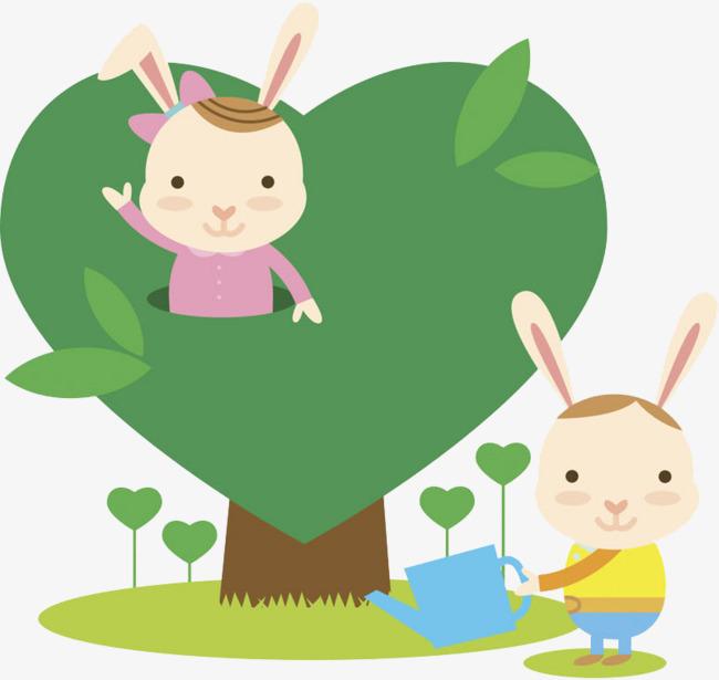 可爱小兔子场景图