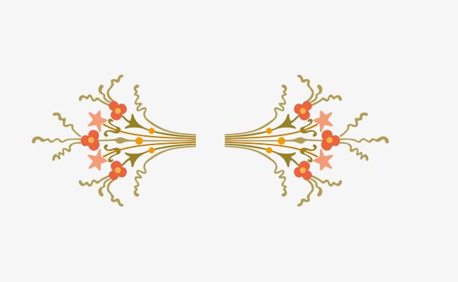 矢量花卉分割线装饰png_png素材免费下载_ 2469*912