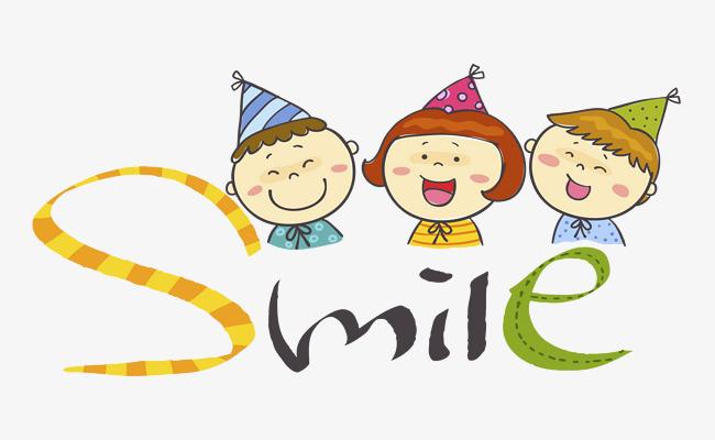 三个高兴的孩子卡通图