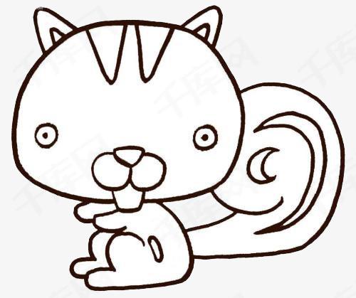 松鼠简笔画图片可爱的小松鼠动物简笔画