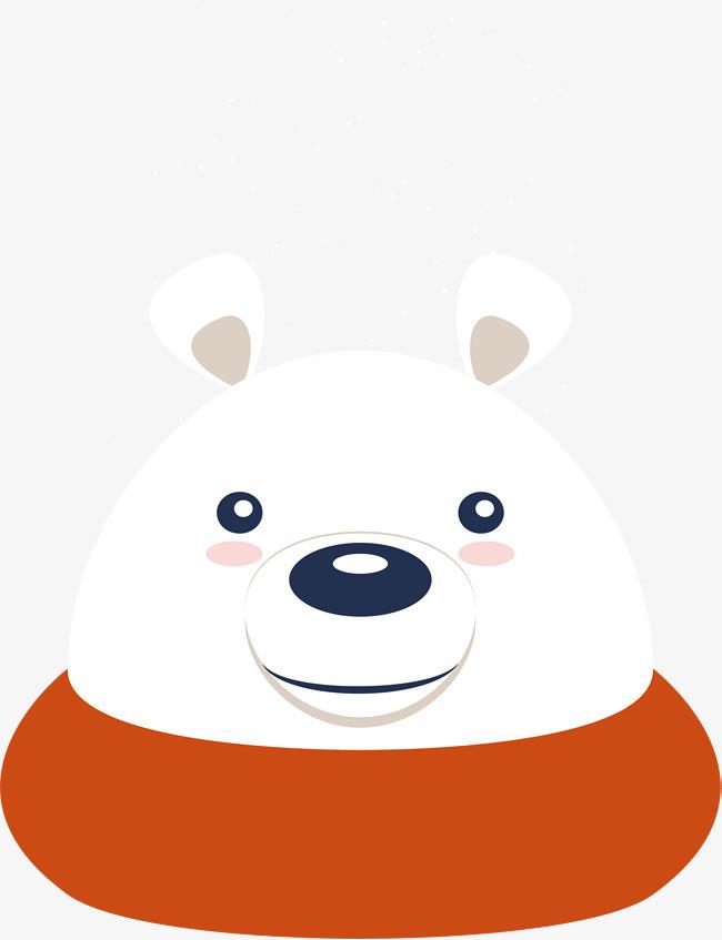 圣诞节可爱大白熊头像