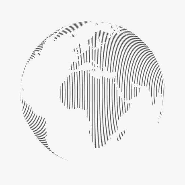 手绘线稿科技地球