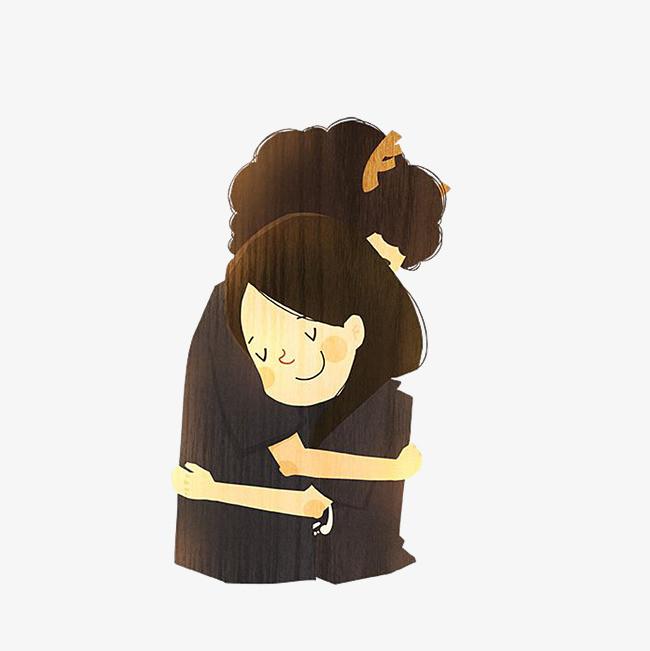 图片 卡通背景 > 【png】 卡通深情拥抱的男女素材  分类:手绘动漫
