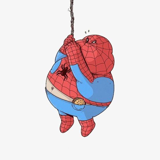 手绘创意蜘蛛侠免抠图