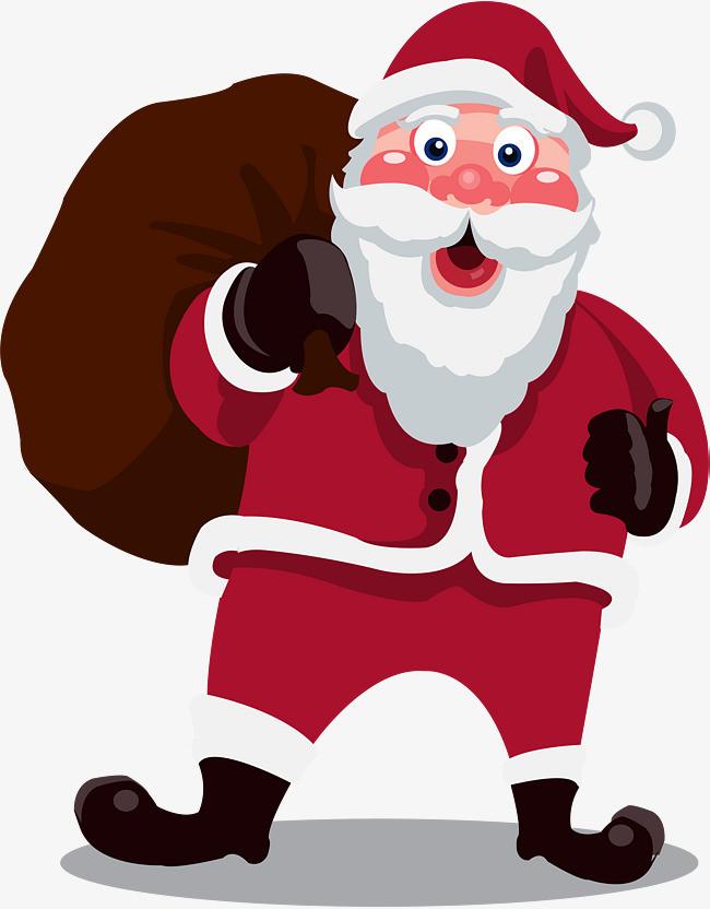 卡通手绘圣诞节老人