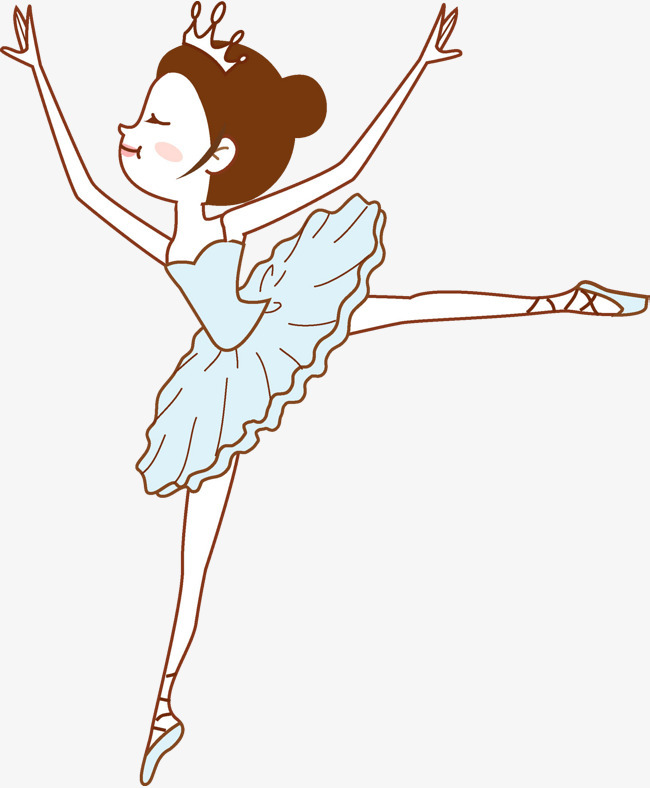 10:25 90设计提供高清png手绘动漫素材免费下载,本次卡通跳芭蕾舞的