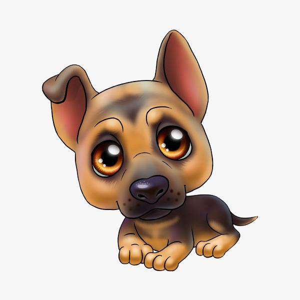 趴着的可爱小狗简图