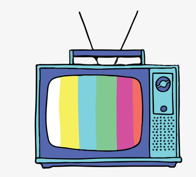 矢量卡通简洁扁平化电视机图片