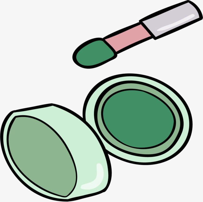 卡通小清新化妆品工具装饰插画设计眼影