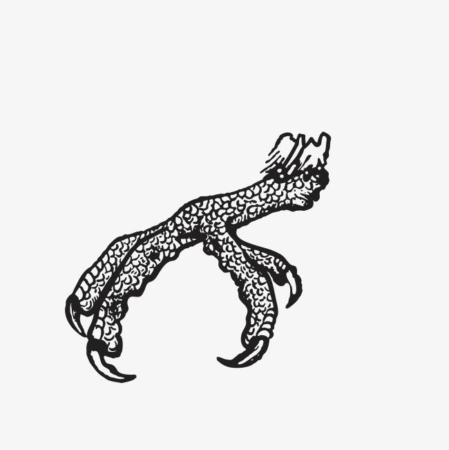 图片 > 【png】 手绘黑色动物爪子  分类:手绘动漫 类目:其他 格式