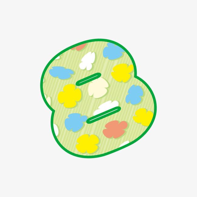 彩色花朵图案数字8_png素材免费下载_ 1000*1000像素