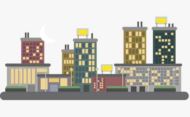 矢量街道房屋建筑图街道房屋卡通建筑房子建筑扁平化街道城市建筑图片