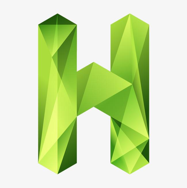 本次创意装饰英文字母ppt制作字母h作品为设计师 怀化学院李老师创作图片