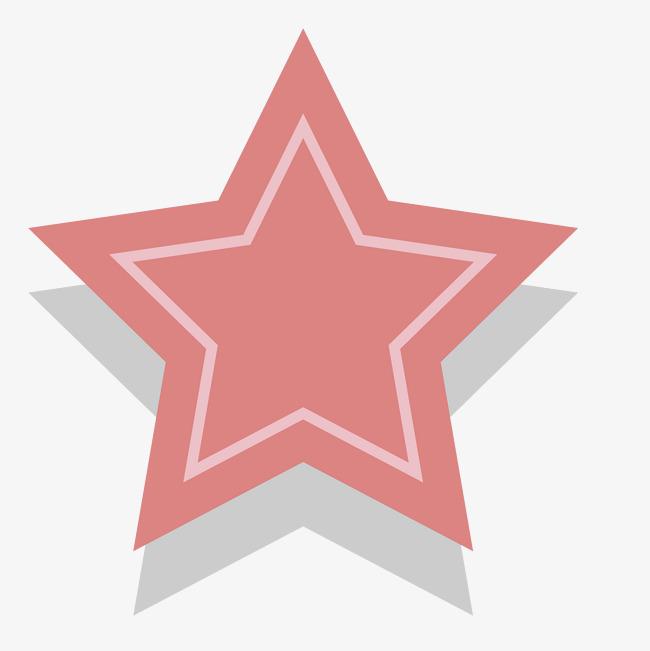 粉色手绘的五角星