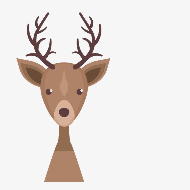 卡通可爱小动物装饰设计动物头像小鹿