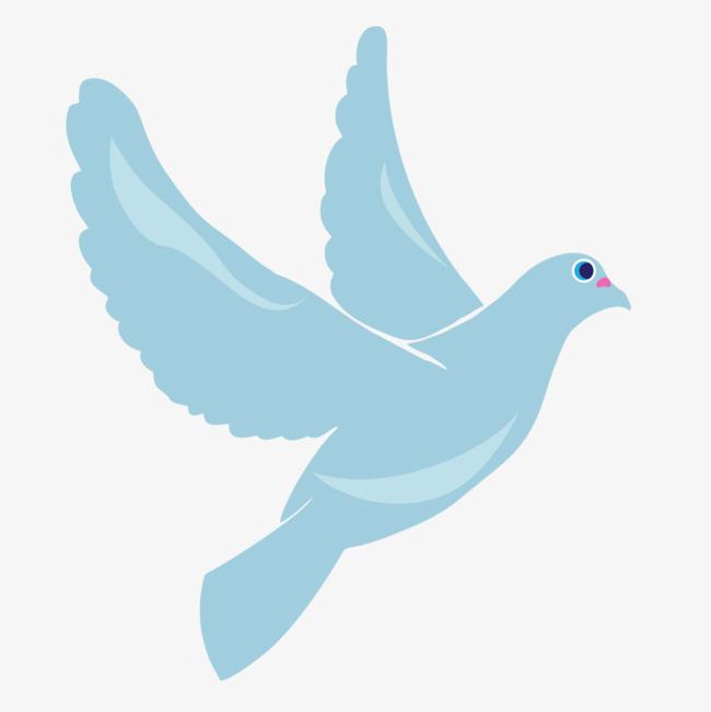 飞翔的白鸽手绘图