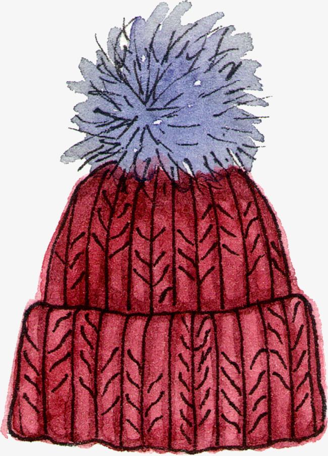 卡通手绘红色的帽子