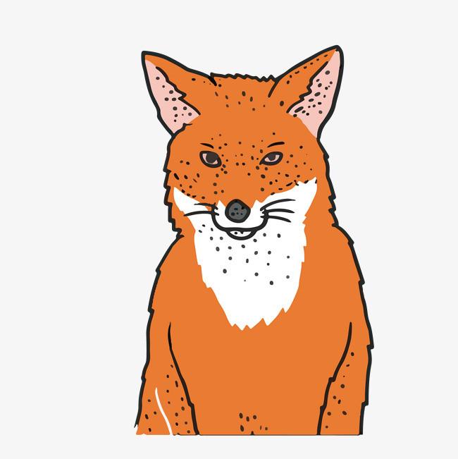 卡通可爱小动物装饰设计动物头像狐狸